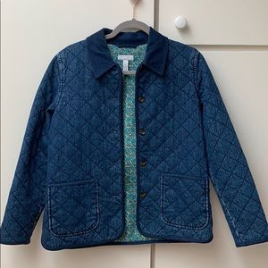 Charter club quilted denim jacket